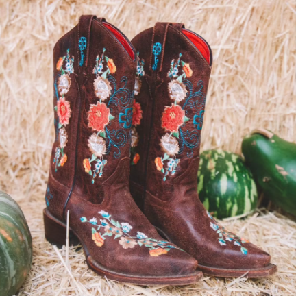 Women Daily Flory Printed Boots