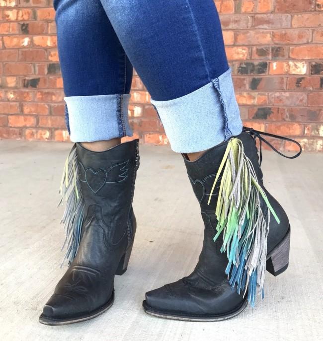 Womens Side Tassel Pu Boots