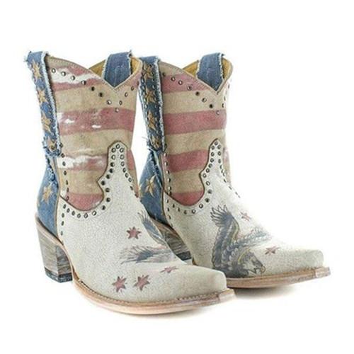 Women Western Pattern Booties