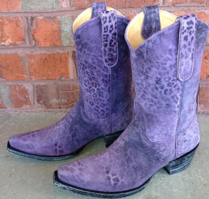 Women Slip On Low Heel Boots