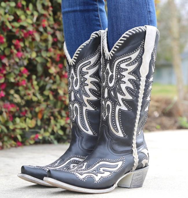 Women Rivet Slip On Boots