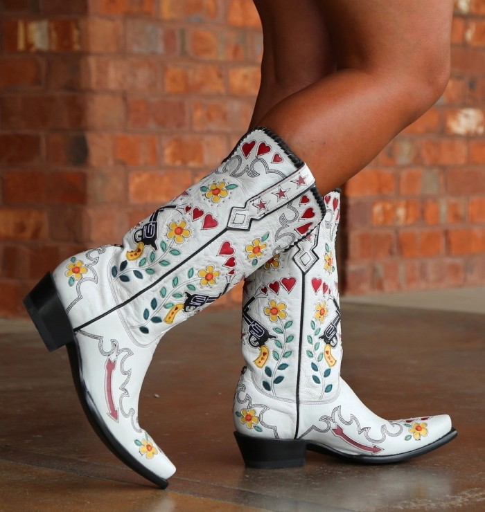 Women Cowgirl Pattern Boots
