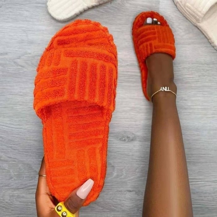 Terry Towelling Slider Slippers