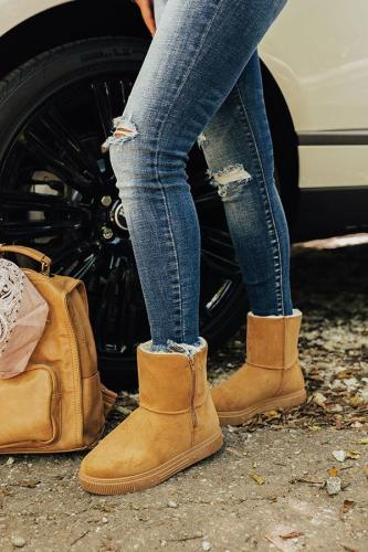 The Cassie Faux Suede Boot