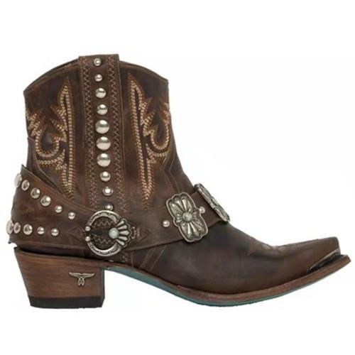 Women Vintage Rivet Boots