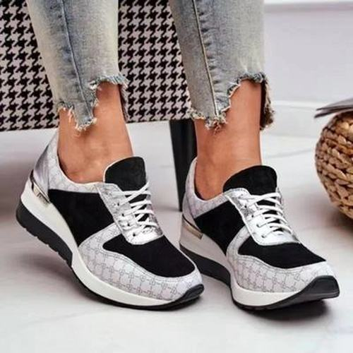 Womens Casual Lacing Sneakers