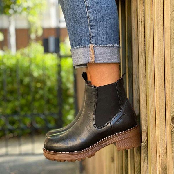 Classic Low Heel Chelsea Ankle Booties