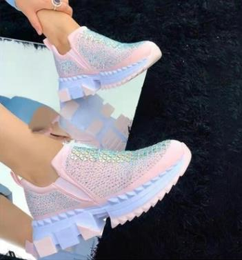 Hot Sale New Fashion Sneakers With Rhinestones