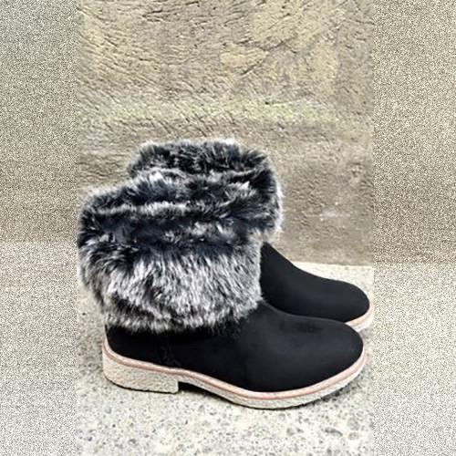 Autumn And Winter Ladies Plush Warm Snow Boots