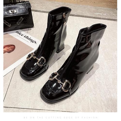 British Square Toe Martin Boots