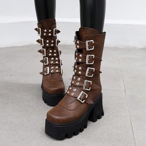 Studded Retro Martin Boots