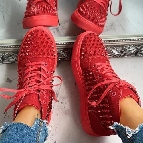 Rhinestone Rivets Sneakers