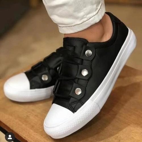 Plus Size Ladies Low-Top Classic Shoes
