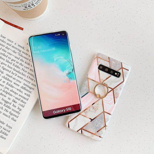 Ring Grip Marble Case For Samsung