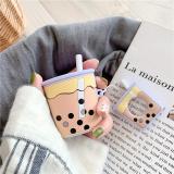 Cute Bubble Tea Silicone AirPods Case Cover