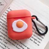 Cute Orange Sunny Egg Silicone AirPods Case Cover