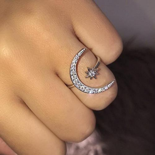 Lovely Moon & Star Ring