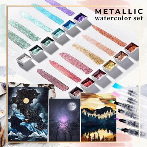 Metallic Watercolor set -12/36/48 Color