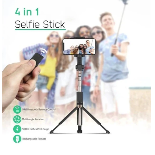 Hot Sale! 4 in 1 Wireless Bluetooth Selfie Stick