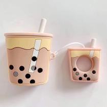 Cute Bubble Tea Silicone AirPods Case Cover