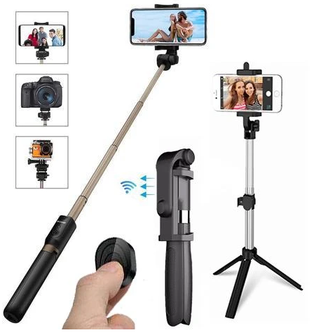 Hot Sale! 4 in 1 Wireless Bluetooth Selfie Stick