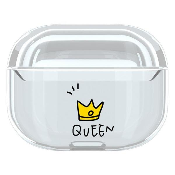 QUEEN/ KING Transparent AirPods Pro Case Cover