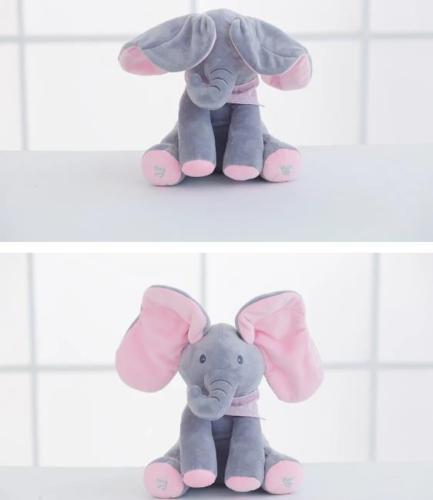 Peek A Boo Plush Elephant Doll