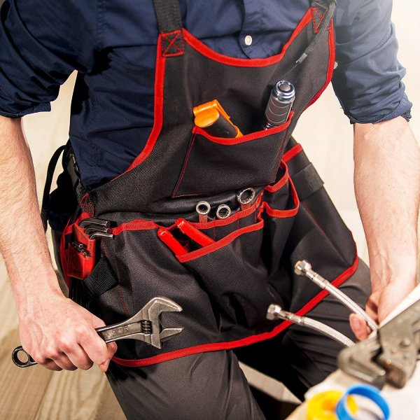 Multi-pocket Tool Collector Apron