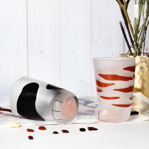 Creative Cute Cat Paws Glass Mug