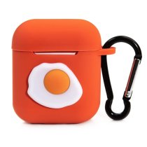 Cute Orange Sunny Egg Silicone AirPods Case Cover