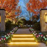 Spring Artificial Lily Solar Garden Stake Lights(1 Pack of 4 Lilies)