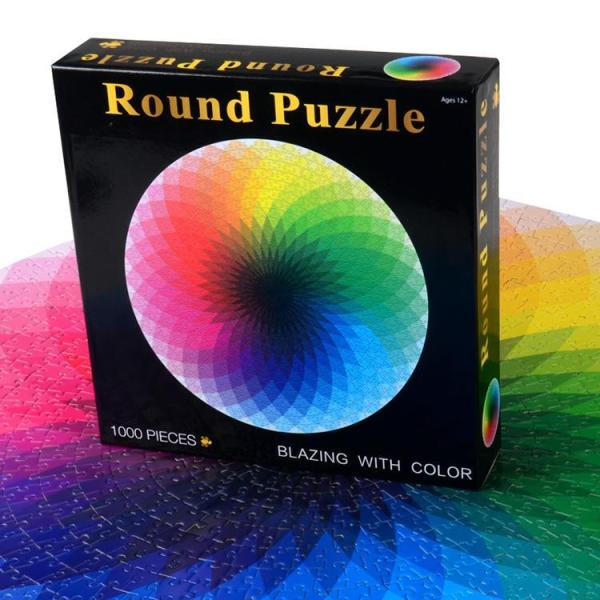 Gradient Color Rainbow Puzzle For Teens & Adults (1000 Pieces)