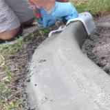 DIY Plastic Curbing Concrete Trowel Mold