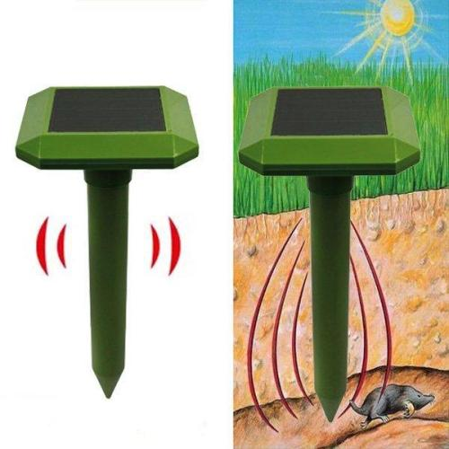 Solar Power Ultrasonic Sonic Mouse Mole Snakes Pest Rodent Repeller