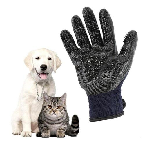 Upgrade Shedding Bathing Massage Pet Grooming Gloves
