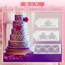 DIY Cake Lace Decoration Mould (3 PCS in 1 SET)