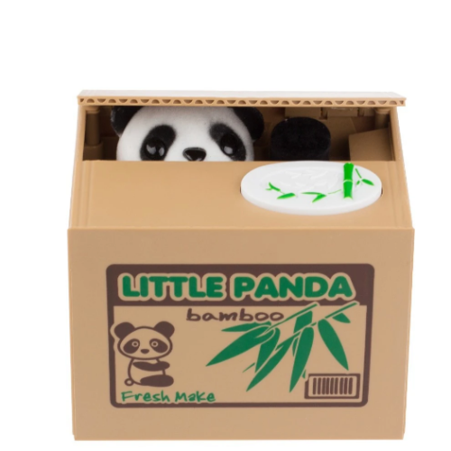 Money Stealing Panda Piggy Bank