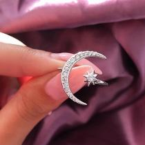 Lovely Moon & Star Ring