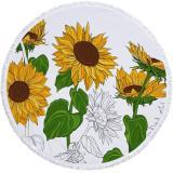 Sunflower Pattern Beach Towel