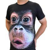 3D Print O-Neck Funny Gorilla T-shirt(Free Shipping)