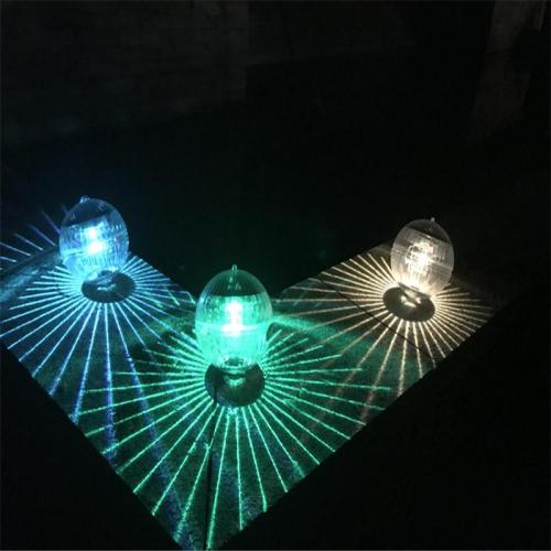 Waterproof LED Solar Power Floating Home Decor Lamp