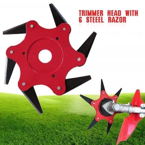 6 Steel Razors Trimmer Head