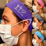 Faith Hope Love Button Headband