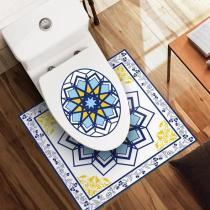 2PCS Bathroom Decor Stickers