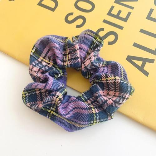 BM Style Plaid Scrunchie Hair Accessories