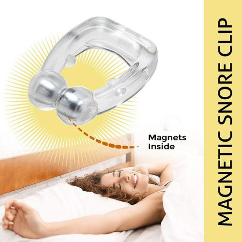 Magnetic Anti-Snore Clip-Sleep Peacefully & Soundlessly!