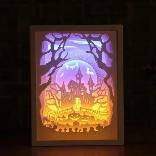3D Decorative Paper Carving Lamp
