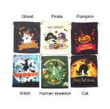 Canvas Halloween Candy Bag