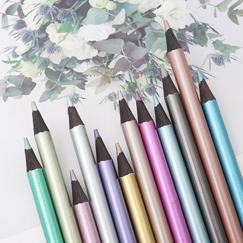 12/18 Color Metallic Color Pencils Set