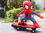 (Halloween promotion) Spiderman Scooter Electric Car Stunt Music led Light Toys